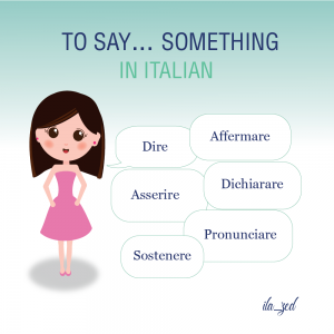 to say in Italian