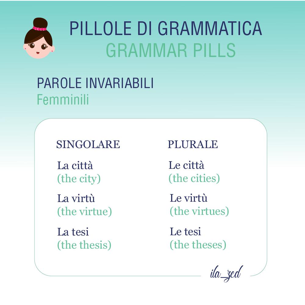 nomi invariabili femminili