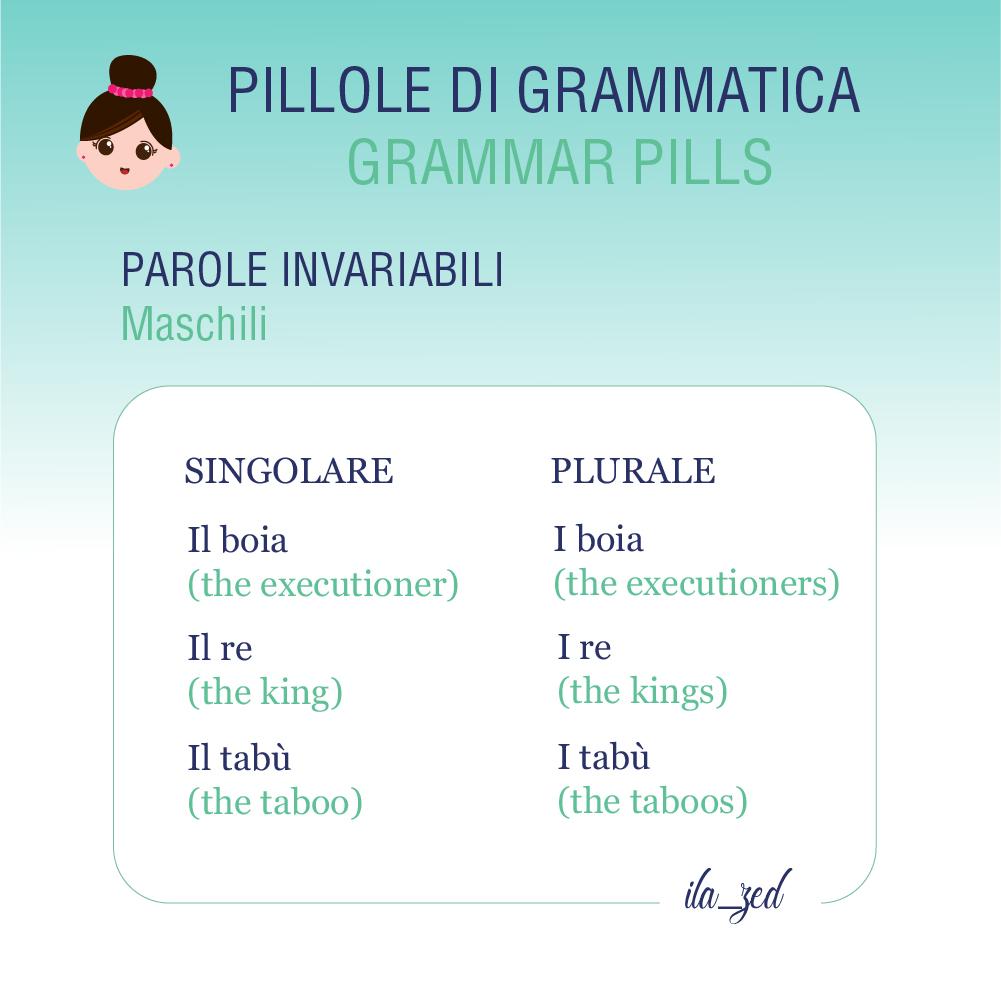 nomi invariabili maschili