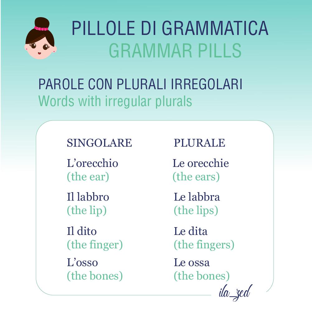 nomi con plurali irregolari