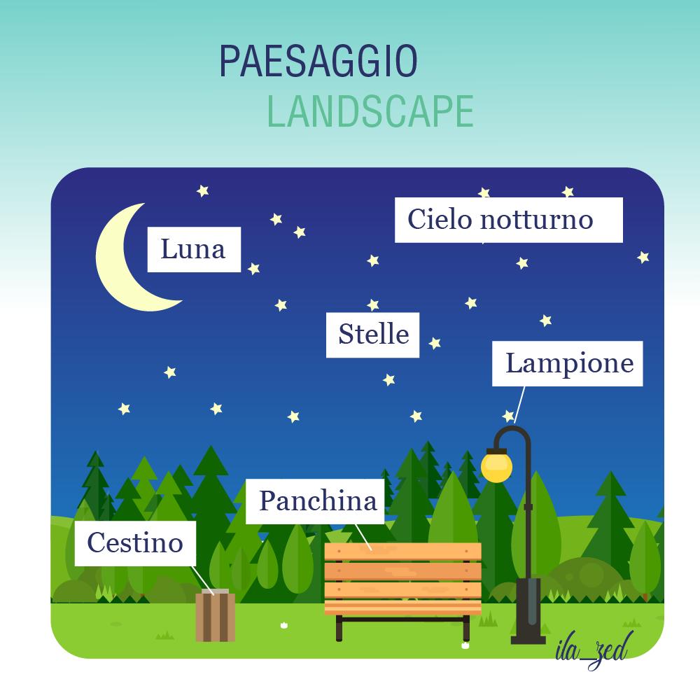 paesaggio panchina